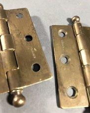 "画像2: 1920-30's ""Ball Tip"" Cabinet Hinges (2)"