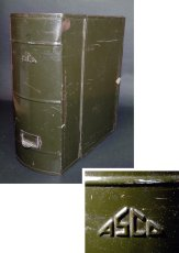 """画像1: 1930-40's """"ASCO N.Y."""" Steel File Box【 FAT !! 】 (1)"""