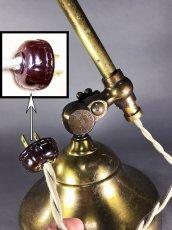 """画像15: 1910's Early """"O.C.White"""" Brass Telescopic Desk Lamp (15)"""