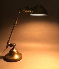 """画像4: 1910's Early """"O.C.White"""" Brass Telescopic Desk Lamp (4)"""