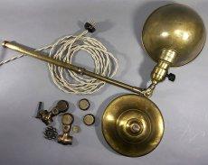 """画像20: 1910's Early """"O.C.White"""" Brass Telescopic Desk Lamp (20)"""
