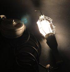 """画像3: 1940's  Trouble Light + """"Cord Reel"""" (3)"""