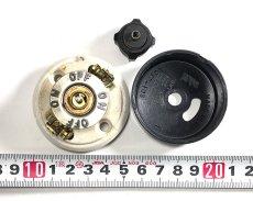 """画像5: -*残り3個*- 1920-30's """"BLACK×WHITE"""" Porcelain Rotary Switch 【Dead-Stock】  (5)"""