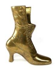 """画像2: Solid Brass Victorian Style """"Ladies Boot"""" Vase (2)"""