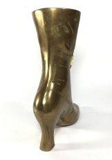 """画像3: Solid Brass Victorian Style """"Ladies Boot"""" Vase (3)"""
