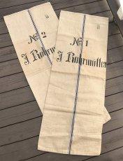 画像2: Early-1930's  German Linen Grain Sack 【特大!!- 2枚セット】 (2)