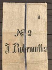 画像7: Early-1930's  German Linen Grain Sack 【特大!!- 2枚セット】 (7)
