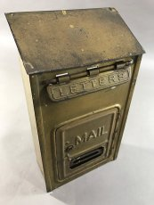 "画像4: 1920-30's ""CORBIN LOCK CO."" Brass Wall Mount Mail Box (4)"