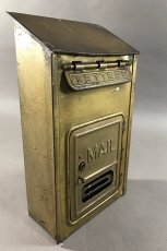 "画像2: 1920-30's ""CORBIN LOCK CO."" Brass Wall Mount Mail Box (2)"