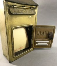 "画像9: 1920-30's ""CORBIN LOCK CO."" Brass Wall Mount Mail Box (9)"