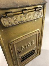 "画像7: 1920-30's ""CORBIN LOCK CO."" Brass Wall Mount Mail Box (7)"