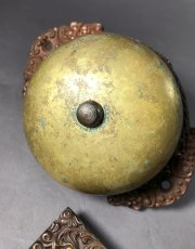 画像2: 1890's【Cast Iron&Brass】Doorbell (2)