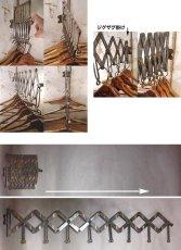 """画像10: 1920's """"EXTENSION"""" Steel Garment Hanger Rack 【BLACK PAINTED】 (10)"""