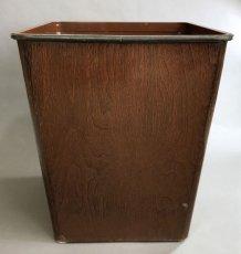 """画像8: 1940's """"DAN-DEE"""" Square Steel Trash Can (8)"""