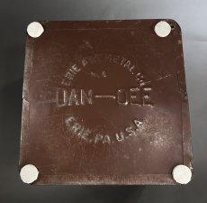 """画像3: 1940's """"DAN-DEE"""" Square Steel Trash Can (3)"""