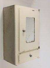 """画像2: 1940-50's French """"Shabby"""" Steel Bathroom Medicine Cabinet (2)"""