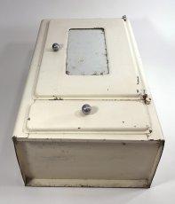 """画像6: 1940-50's French """"Shabby"""" Steel Bathroom Medicine Cabinet (6)"""