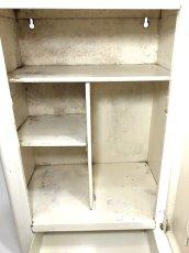 """画像9: 1940-50's French """"Shabby"""" Steel Bathroom Medicine Cabinet (9)"""