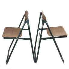 画像19: 1940-50's ☆BIENAISE☆ Folding Chair 【2脚セット】 (19)
