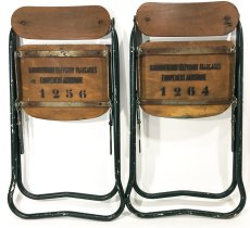 画像9: 1940-50's ☆BIENAISE☆ Folding Chair 【2脚セット】 (9)