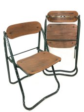 画像2: 1940-50's ☆BIENAISE☆ Folding Chair 【2脚セット】 (2)