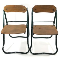 画像12: 1940-50's ☆BIENAISE☆ Folding Chair 【2脚セット】 (12)