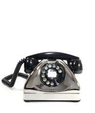 画像2: - 実働品 -  1940's U.S.ARMY Chromed Telephone 【★ROYAL CHROME★】 【★バックプレート付き★】 (2)