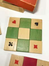 "画像4: 1950's ""4 colors"" Wooden Coasters 【Made in West Germany】 (4)"