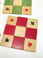 "画像5: 1950's ""4 colors"" Wooden Coasters 【Made in West Germany】 (5)"