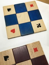 "画像3: 1950's ""4 colors"" Wooden Coasters 【Made in West Germany】 (3)"