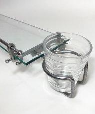 画像8: 1930's【Art Deco】 German Bathroom Glass Shelf w/ Cup holder (8)