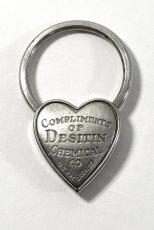 画像2:  1940's  ♡Heart Shaped♡ Advertising Key Ring  (2)