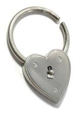 画像4:  1940's  ♡Heart Shaped♡ Advertising Key Ring  (4)