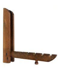 "画像1: 1900〜20's ""Primitive"" Wood Wall Mount Folding Hanger Rack (1)"