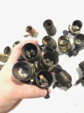 画像10: Lot of Antique Light Bulb Sockets  (10)