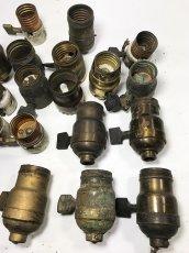 画像5: Lot of Antique Light Bulb Sockets  (5)