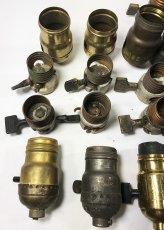 画像7: Lot of Antique Light Bulb Sockets  (7)