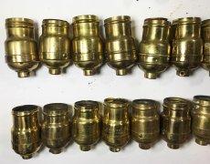 画像2: Lot 37 Antique Light Bulb Sockets  (2)