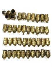 画像1: Lot 37 Antique Light Bulb Sockets  (1)