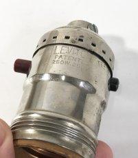 画像2: 1930-50's【LEVITON】Nickeled Brass Lamp Socket  (2)