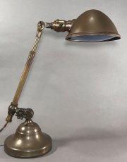 """画像1: 1910-20's """"O.C.White"""" Brass Telescopic Desk Lamp  ★初期刻印 & ガラスレンズ付き★ (1)"""