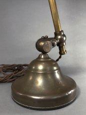 """画像14: 1910-20's """"O.C.White"""" Brass Telescopic Desk Lamp  ★初期刻印 & ガラスレンズ付き★ (14)"""