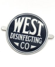 画像2: 1920-40's【West Disinfecting Co. N.Y.】Aluminum Plate (2)