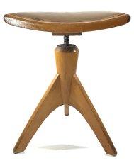"""画像4: Late 1940's-1950's """"ART DECO"""" Germany Wooden Piano Stool (4)"""