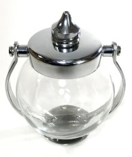 画像5: 1930-40's Art-Deco Glass Liquid Soap Dispenser (5)