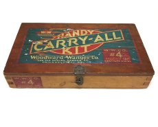"画像2: 1930's ""CARRY-ALL"" Advertising Wood Box (2)"