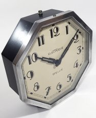 "画像3: 1930's French ""Art Déco"" Octagon Wall Clock (3)"