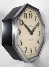 "画像11: 1930's French ""Art Déco"" Octagon Wall Clock (11)"