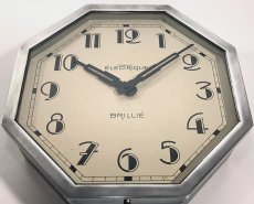 "画像6: 1930's French ""Art Déco"" Octagon Wall Clock (6)"