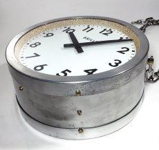 """画像14: 1950's【Brillié】 """"Double-Sided"""" French Factory Clock (14)"""